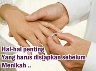 hal penting yang harus disiapkan sebelum menikah